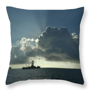 Outer Continental Shelf Oilfield  Throw Pillow