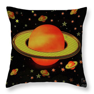 Outer Harvest Moons Throw Pillow