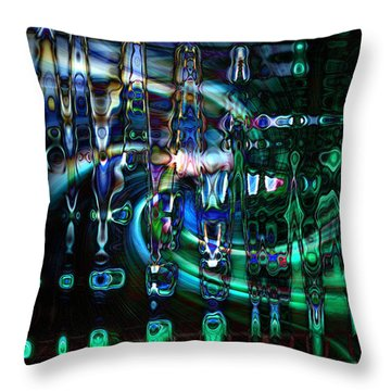 Outer Zone Throw Pillow by Cherie Duran