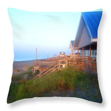 Throw Pillow featuring the photograph Outerbanks Sunrise At The Beach by Sandi OReilly