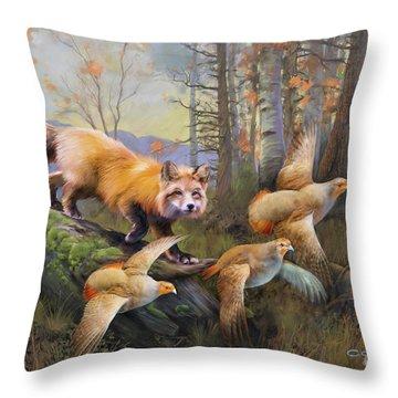 Outfoxed Throw Pillow