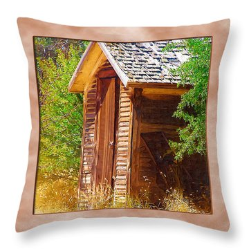 Throw Pillow featuring the photograph Outhouse 1 by Susan Kinney