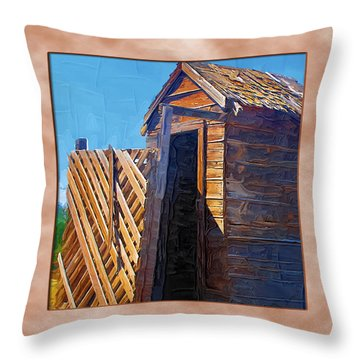 Throw Pillow featuring the photograph Outhouse 2 by Susan Kinney