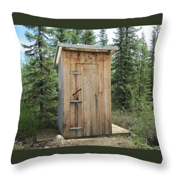 Outhouse  Throw Pillow by Lucinda VanVleck