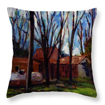 Outland Retreat Throw Pillow by Charlie Spear