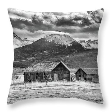 Outliers In Monochrome Throw Pillow