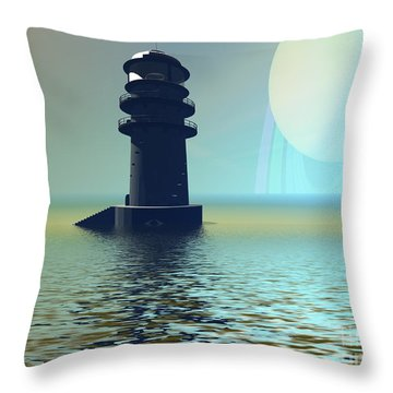 Outpost Throw Pillow by Corey Ford