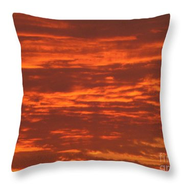 Outrageous Orange Sunrise Throw Pillow