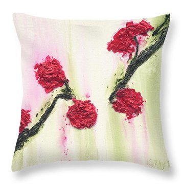 Throw Pillow featuring the painting S R R Seeks Same by Kathryn Riley Parker