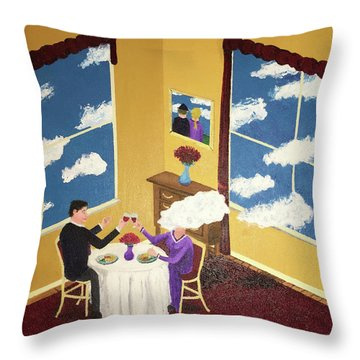 Outside In Throw Pillow by Thomas Blood