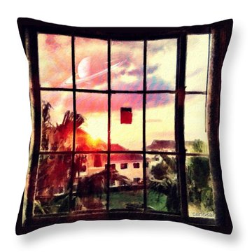Outside My Window... Throw Pillow