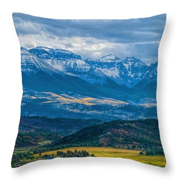 Outside Of Ridgway Throw Pillow by Alana Thrower