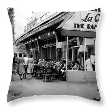 Outside Restaurant La Coupole In Montparnasse, Paris, 1959  Throw Pillow