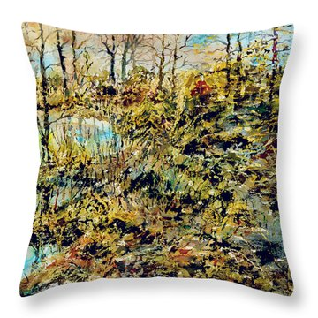 Outside Trodden Paths Throw Pillow