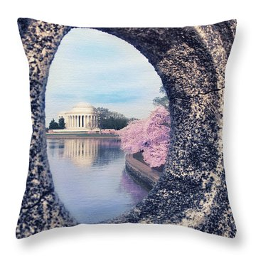 Outside Your Door Throw Pillow