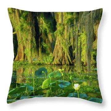 Outstanding Lotus Throw Pillow