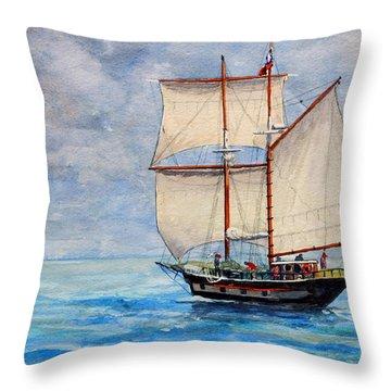 Outward Bound Throw Pillow by Dennis Clark