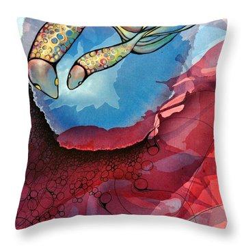 Outwards Inwards Throw Pillow