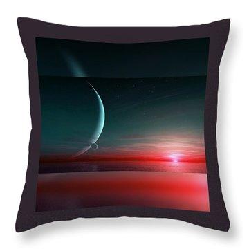 Outworld. Bi-moon  Throw Pillow