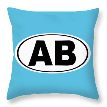 Throw Pillow featuring the photograph Oval Ab Atlantic Beach Florida Home Pride by Keith Webber Jr