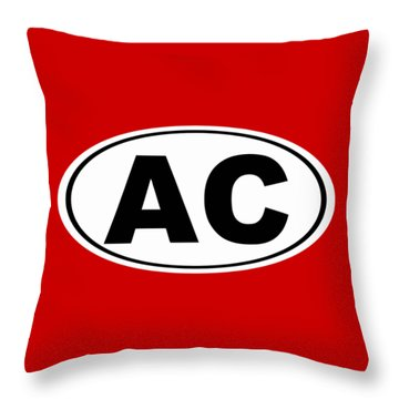 Throw Pillow featuring the photograph Oval Ac Atlantic City New Jersey Home Pride by Keith Webber Jr