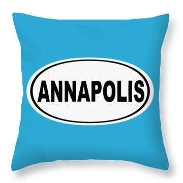 Throw Pillow featuring the photograph Oval Annapolis Maryland Home Pride by Keith Webber Jr