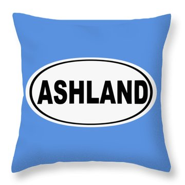 Throw Pillow featuring the photograph Oval Ashland Oregon Or Ohio Home Pride by Keith Webber Jr