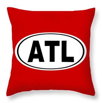 Throw Pillow featuring the photograph Oval Atl Atlanta Georgia Home Pride by Keith Webber Jr