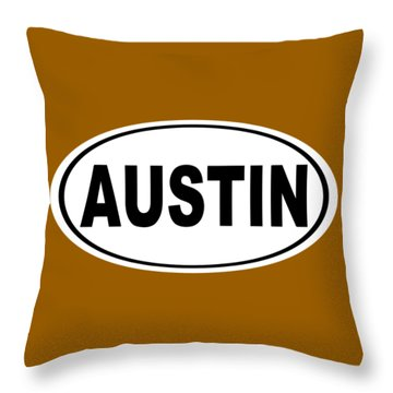 Throw Pillow featuring the photograph Oval Austin Texas Home Pride by Keith Webber Jr