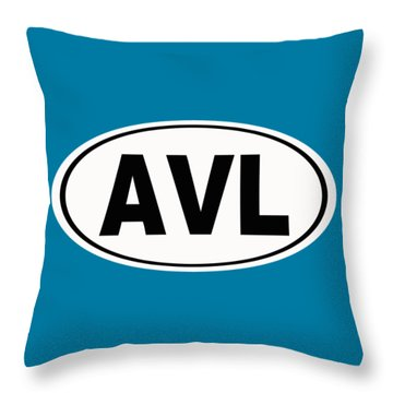 Throw Pillow featuring the photograph Oval Avl Asheville North Carolina Home Pride by Keith Webber Jr