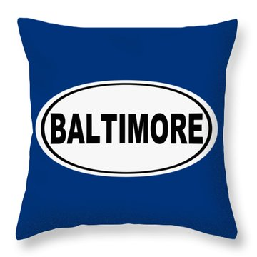 Throw Pillow featuring the photograph Oval Baltimore Maryland Home Pride by Keith Webber Jr