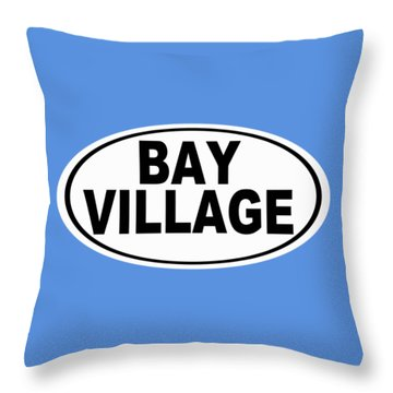 Throw Pillow featuring the photograph Oval Bay Village Ohio Home Pride by Keith Webber Jr