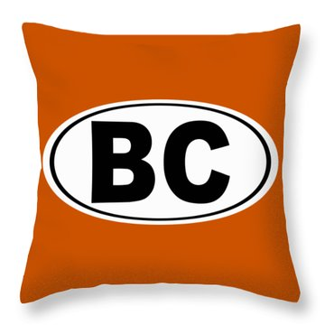 Throw Pillow featuring the photograph Oval Bc Boulder City Colorado Home Pride by Keith Webber Jr
