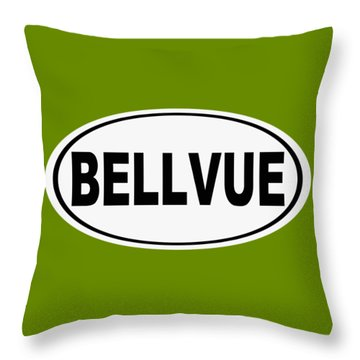 Throw Pillow featuring the photograph Oval Bellvue Colorado Home Pride by Keith Webber Jr