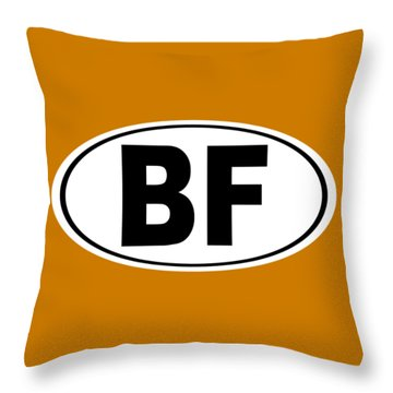 Throw Pillow featuring the photograph Oval Bf Beaver Falls Pennsylvania Home Pride by Keith Webber Jr