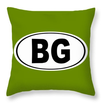 Throw Pillow featuring the photograph Oval Bg Bowling Green Kentucky Home Pride by Keith Webber Jr