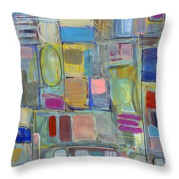 Oval Block Throw Pillow by Lynne Taetzsch