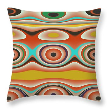 Ovals And Circles Pattern Design Throw Pillow by Jessica Wright