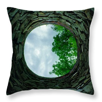 Ovens Long-silenced - Ruins At Old Iron Furnace Site Throw Pillow