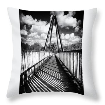 Throw Pillow featuring the photograph Over And Under by Nick Bywater