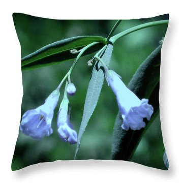 Over Done Blue Throw Pillow