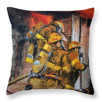 Over Head Heat Throw Pillow by Paul Walsh