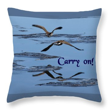 Over Icy Waters Carry On Throw Pillow by DeeLon Merritt