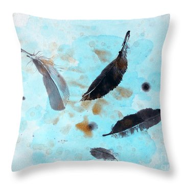 Over The Blue  Throw Pillow