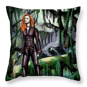 Over The Bridge Throw Pillow by James Christopher Hill