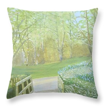 Over The Bridge Throw Pillow by Joanne Perkins
