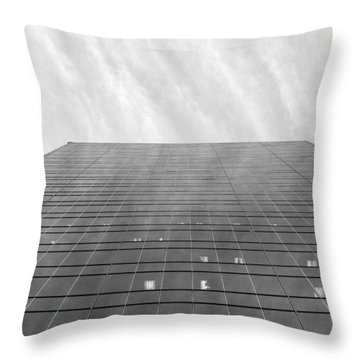 Throw Pillow featuring the photograph Over The City by Valentino Visentini