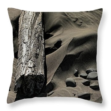 Over The Dune Throw Pillow by Bonnie Bruno