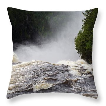 Over The Edge Throw Pillow by David and Lynn Keller