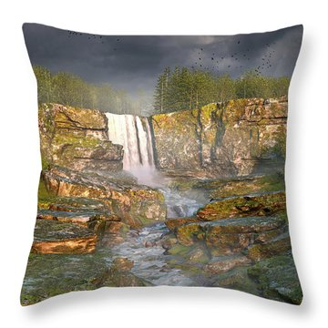 Over The Edge Throw Pillow